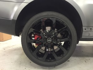 Range Rover Sport powder coat gloss black rims