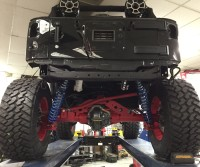 Blackhawk Jeep with the dynatrac axles and king shocks installed.